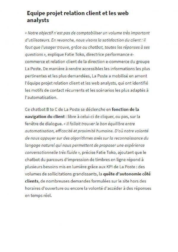 ChatBot MTEL Les Echos 2